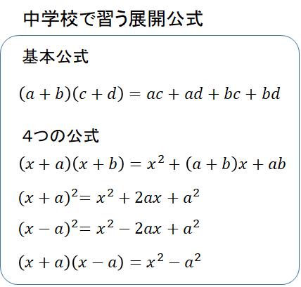 高校数学の展開公式 | さわやか!さくらぐみ
